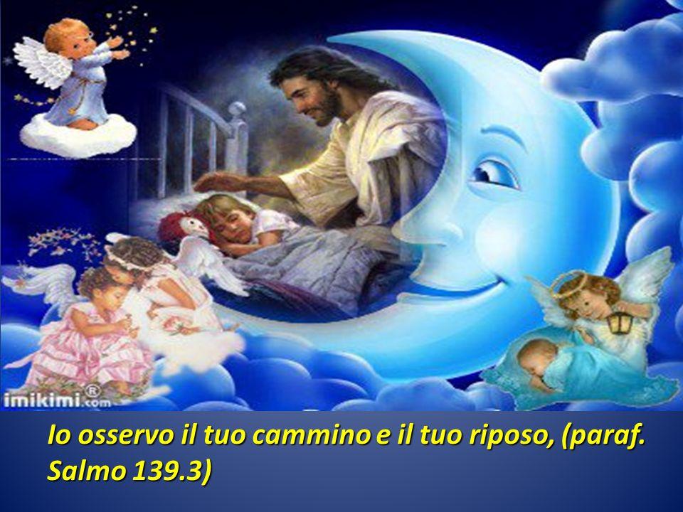 Io osservo il tuo cammino e il tuo riposo, (paraf. Salmo 139.3)
