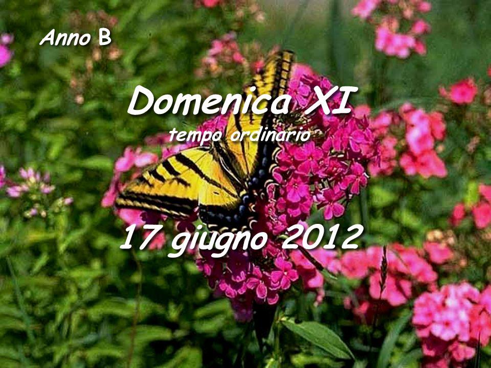 Anno B Domenica XI tempo ordinario 17 giugno 2012