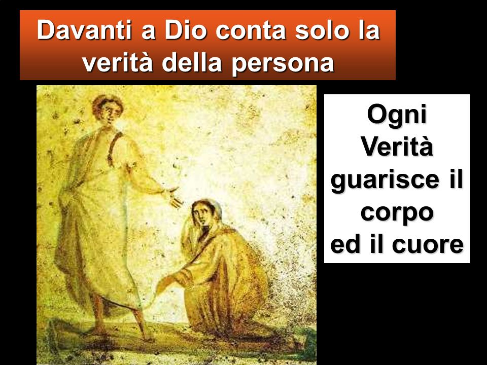 Davanti a Dio conta solo la verità della persona