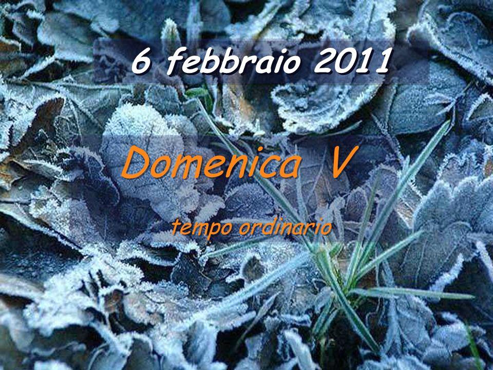 6 febbraio 2011 Domenica V tempo ordinario
