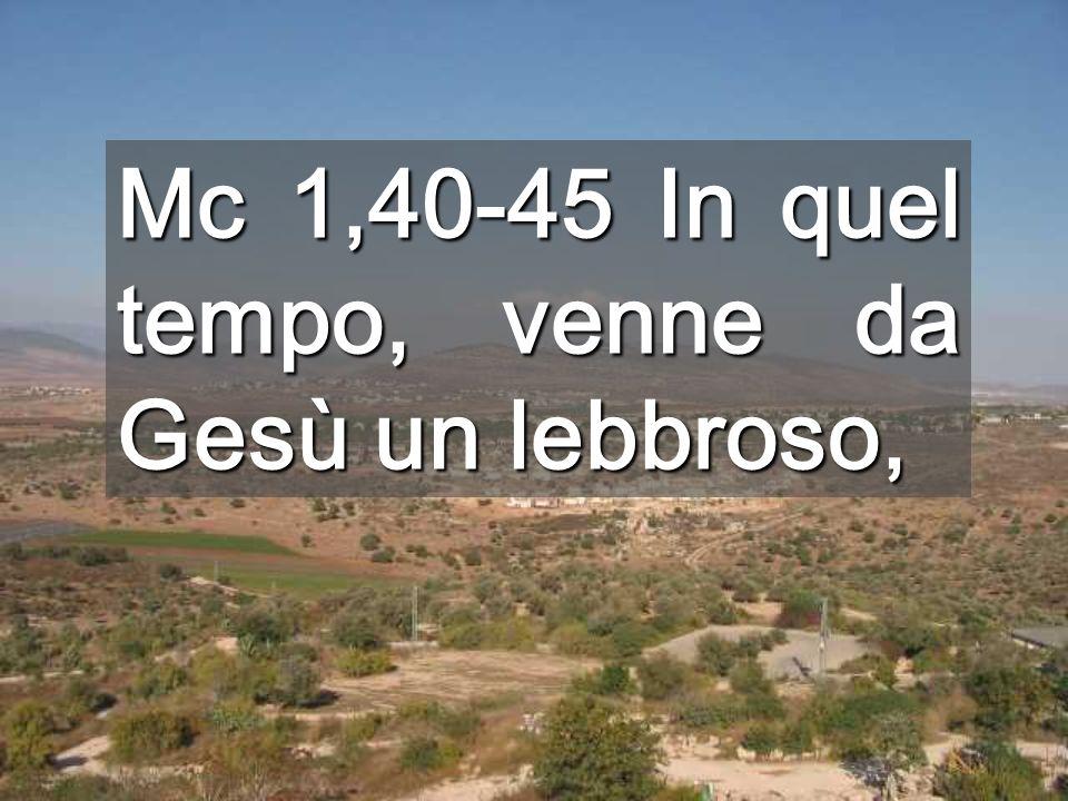 Mc 1,40-45 In quel tempo, venne da Gesù un lebbroso,