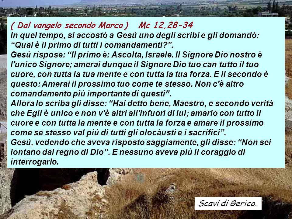 ( Dal vangelo secondo Marco ) Mc 12,28-34