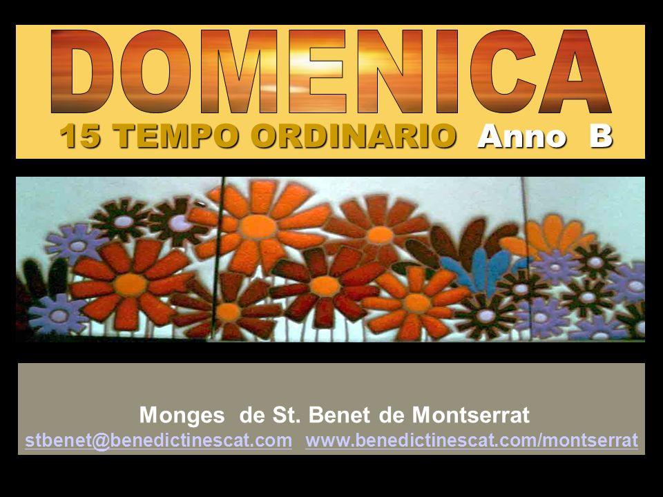15 TEMPO ORDINARIO Anno B DOMENICA