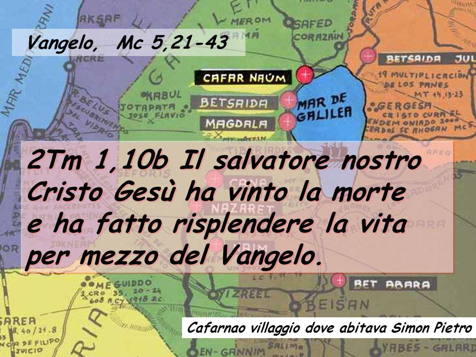 2Tm 1,10b Il salvatore nostro Cristo Gesù ha vinto la morte