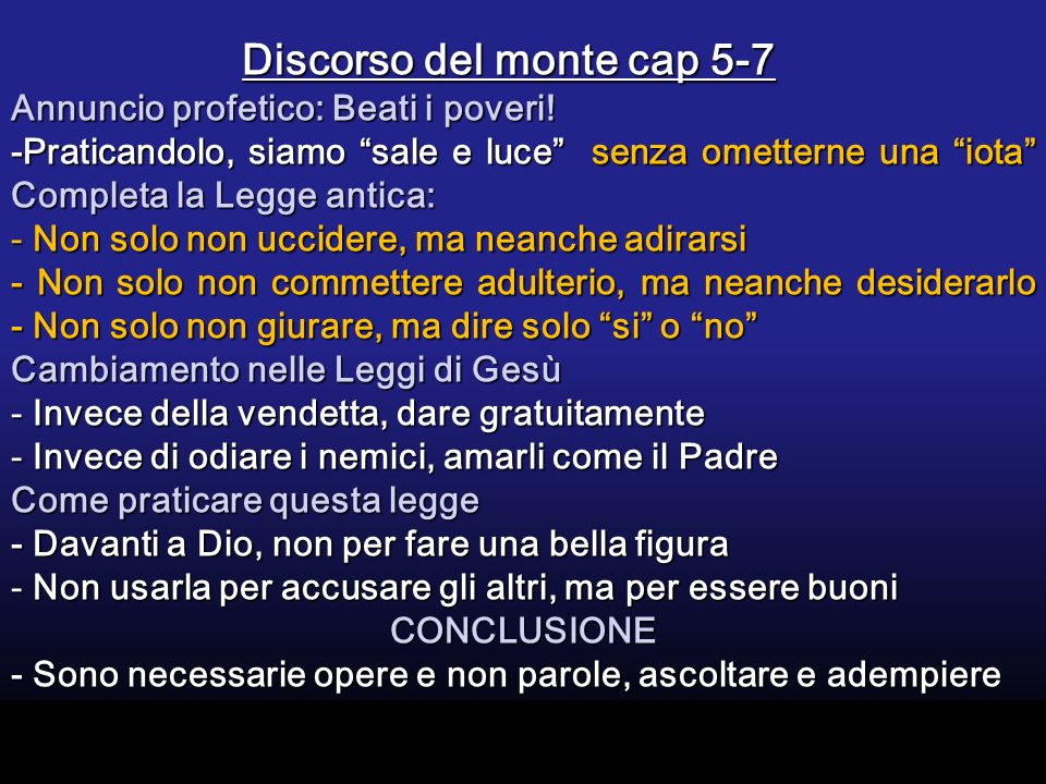 Discorso del monte cap 5-7