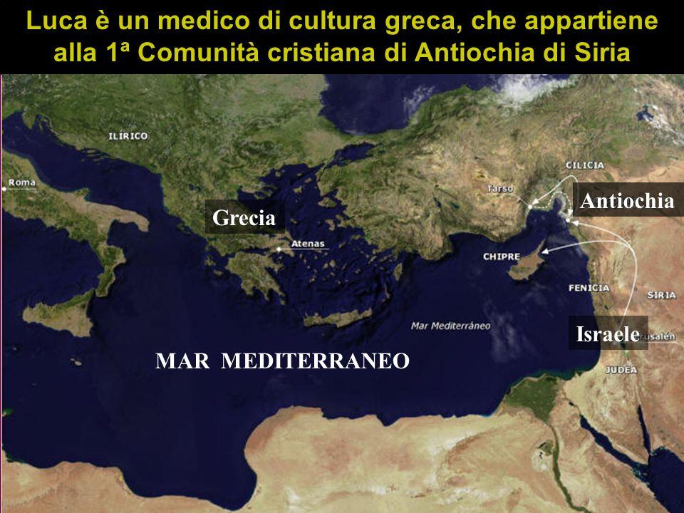 Luca è un medico di cultura greca, che appartiene alla 1ª Comunità cristiana di Antiochia di Siria