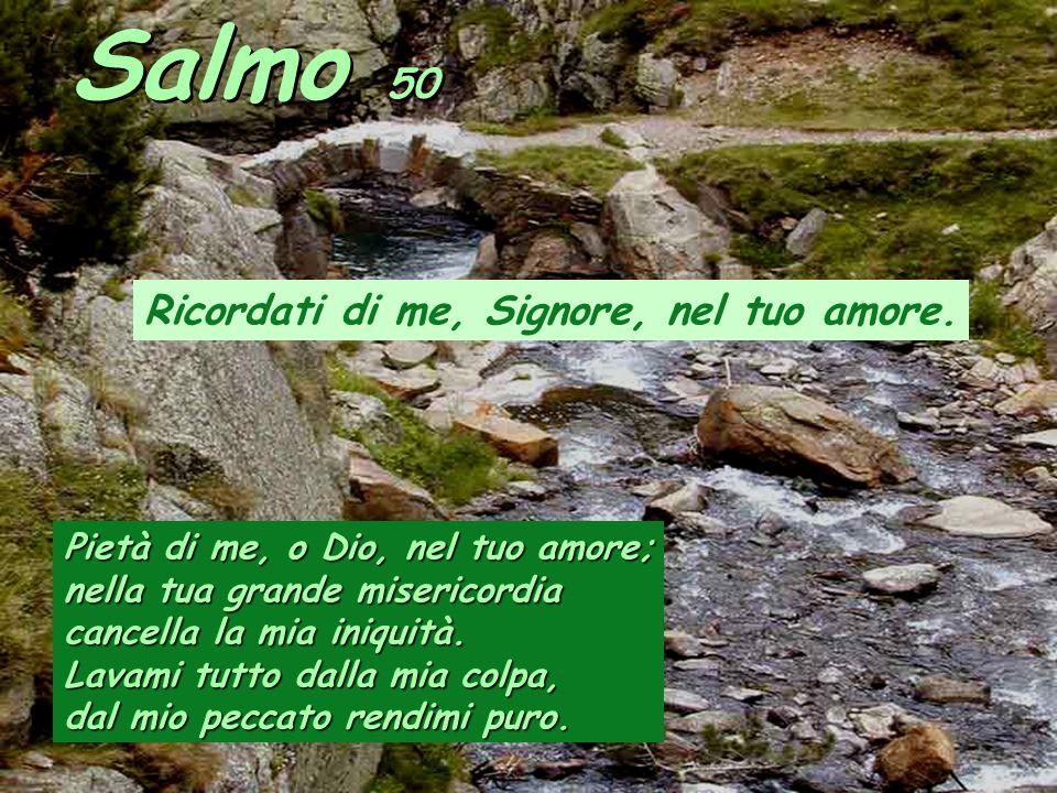 Salmo 50 Ricordati di me, Signore, nel tuo amore.