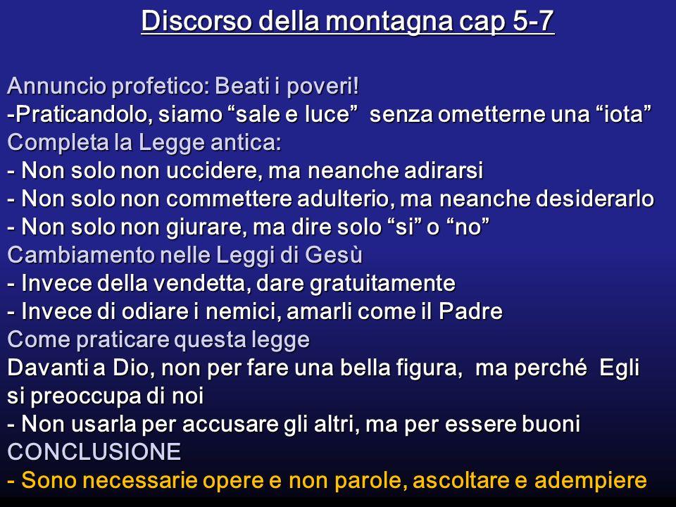 Discorso della montagna cap 5-7