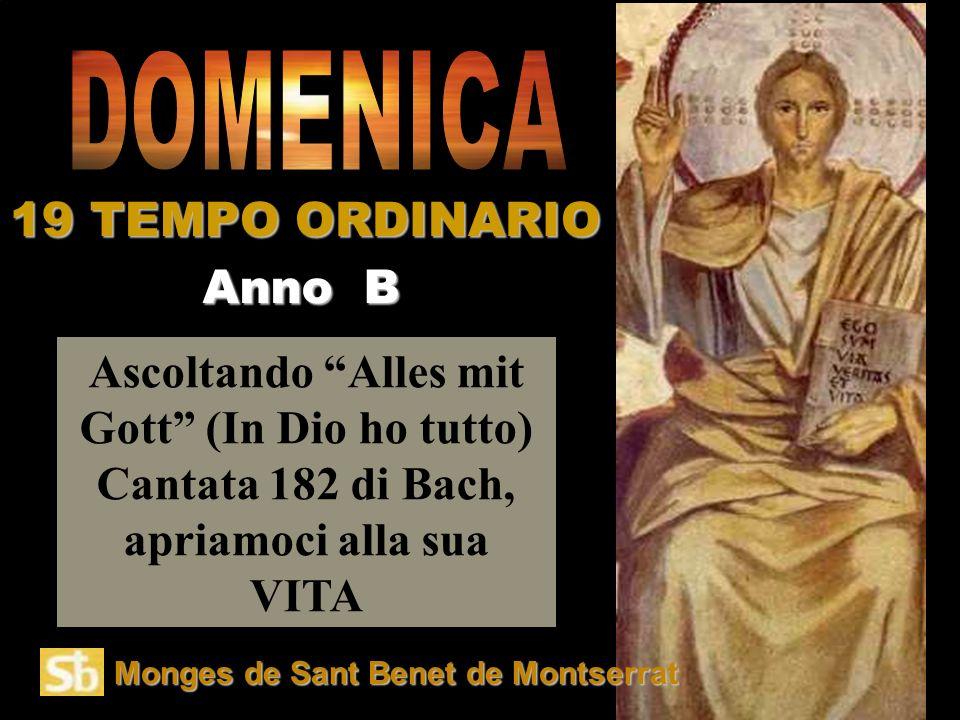 DOMENICA 19 TEMPO ORDINARIO Anno B