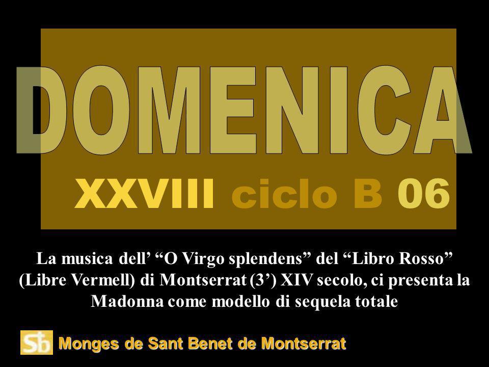 XXVIII ciclo B 06 DOMENICA