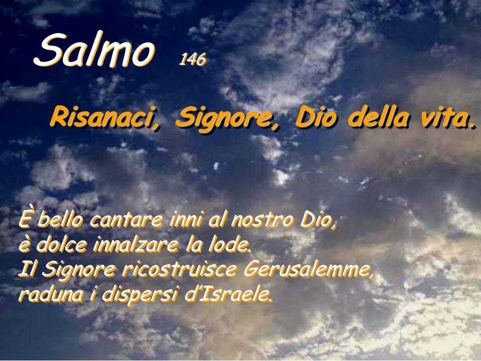 Salmo 146 Risanaci, Signore, Dio della vita.