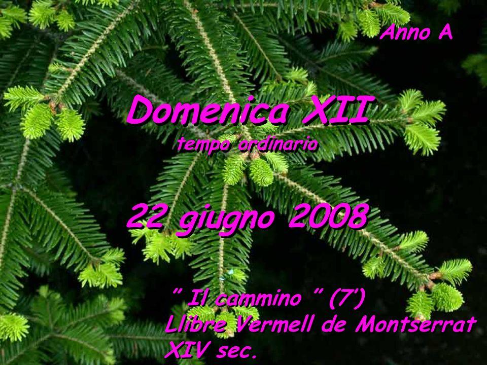 Domenica XII 22 giugno 2008 Llibre Vermell de Montserrat XIV sec.