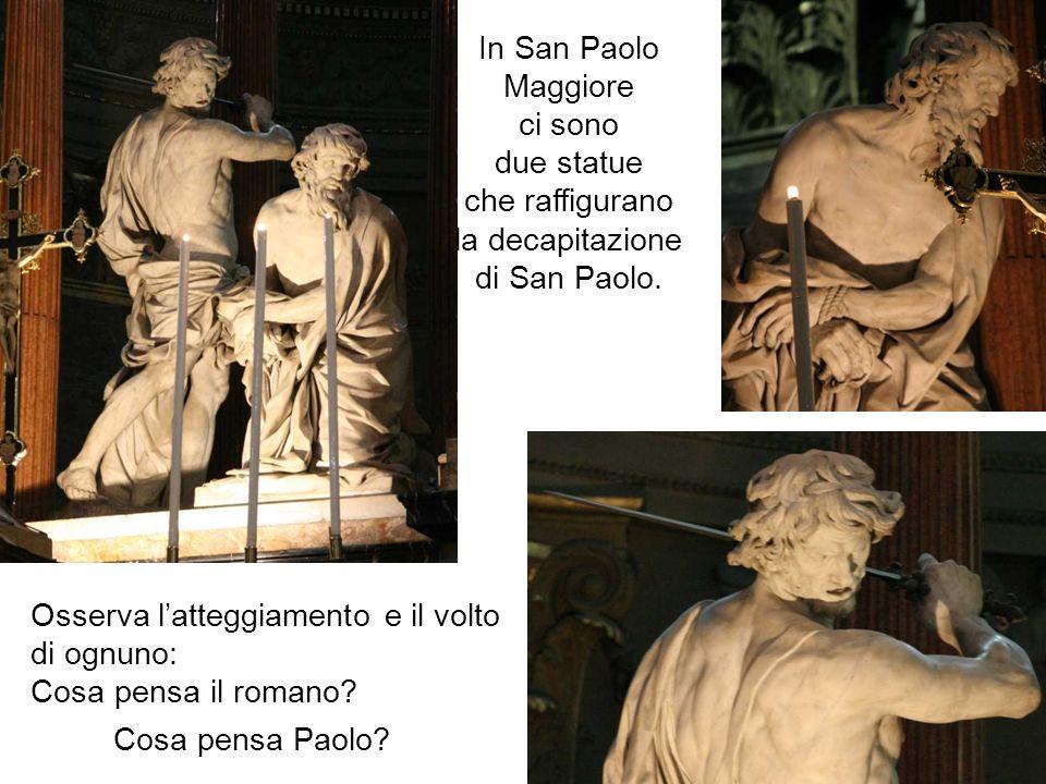 Osserva l'atteggiamento e il volto di ognuno: Cosa pensa il romano
