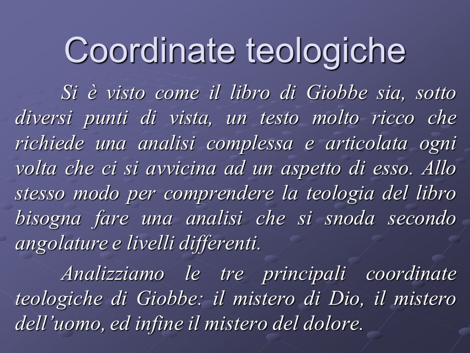 Coordinate teologiche