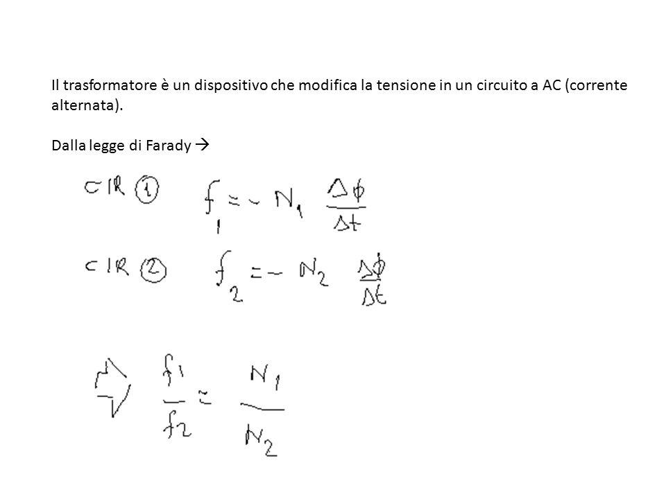 Il trasformatore è un dispositivo che modifica la tensione in un circuito a AC (corrente alternata).