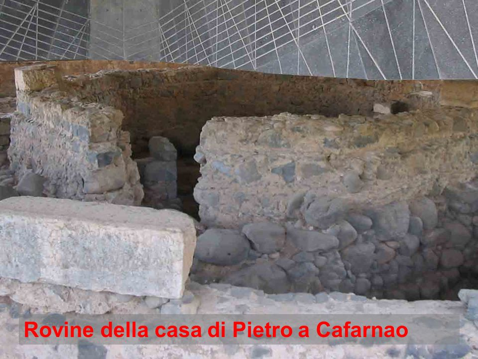 Rovine della casa di Pietro a Cafarnao