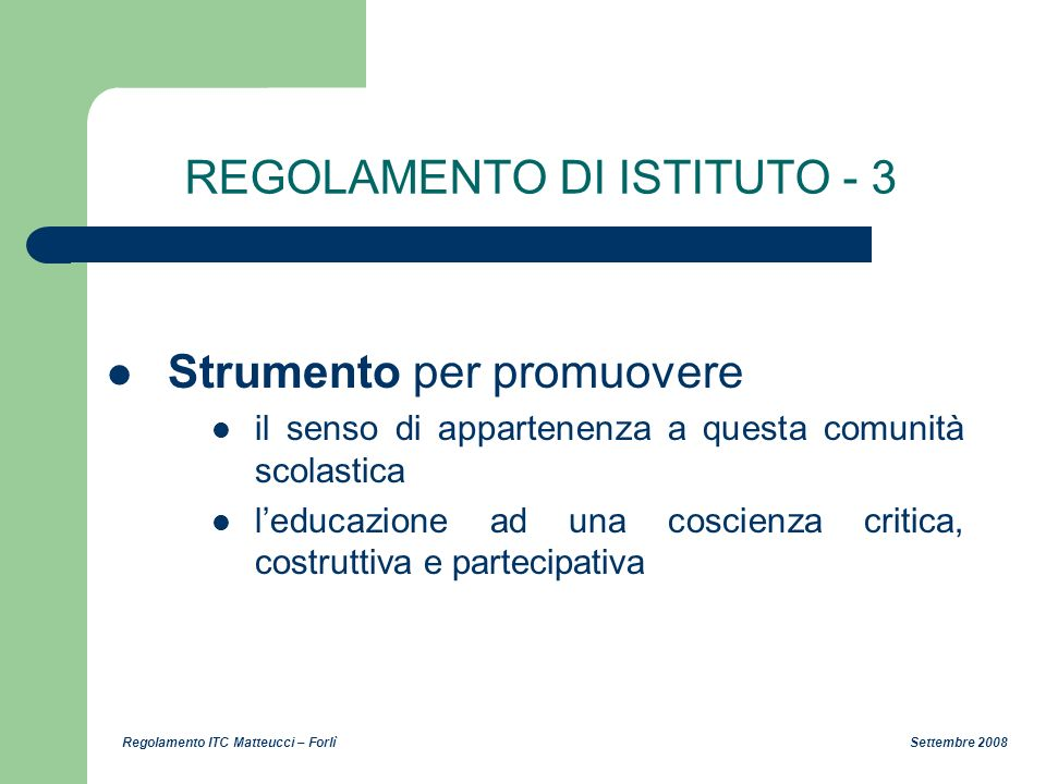 REGOLAMENTO DI ISTITUTO - 3