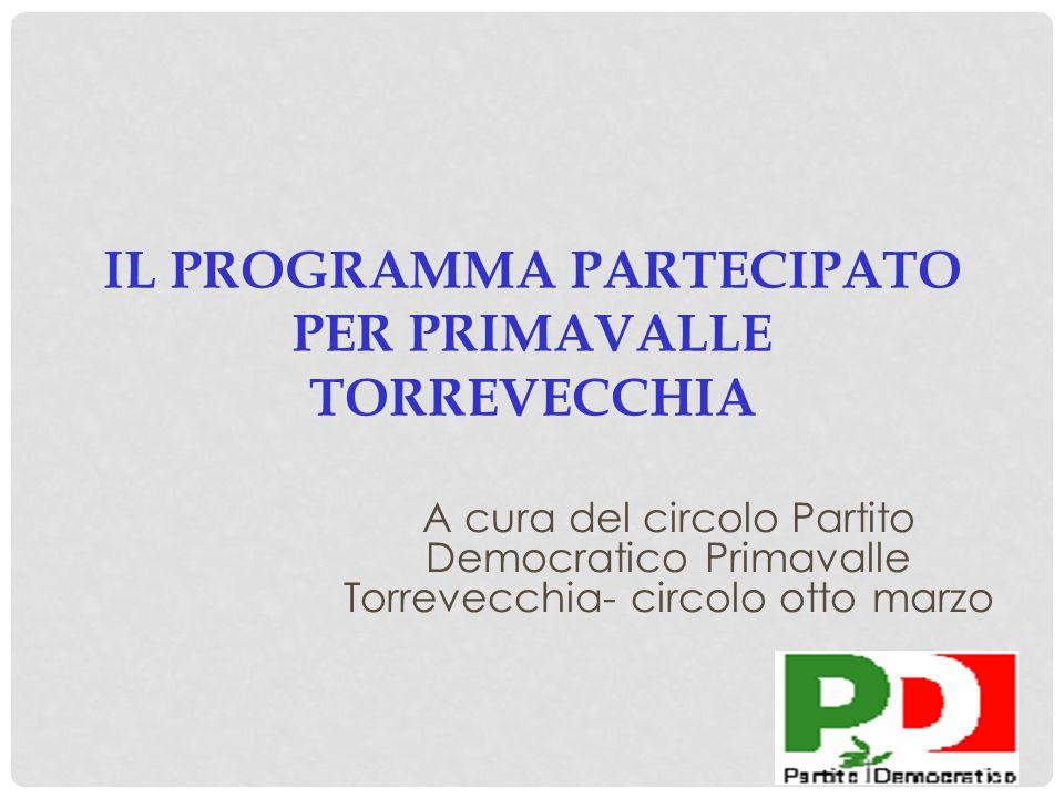 IL PROGRAMMA PARTECIPATO PER PRIMAVALLE TORREVECCHIA