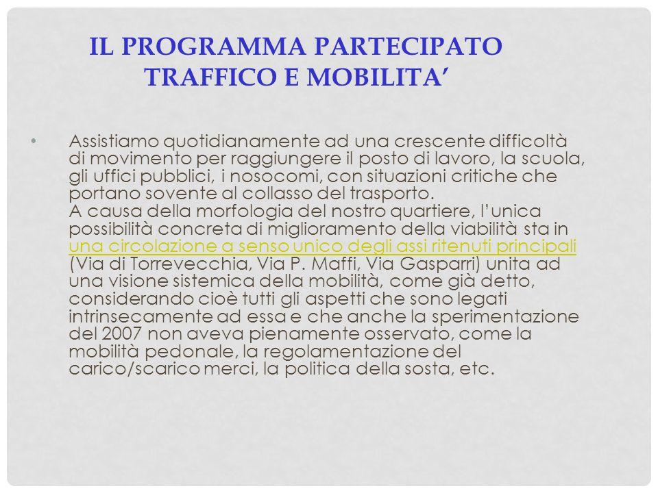 IL PROGRAMMA PARTECIPATO TRAFFICO E MOBILITA'