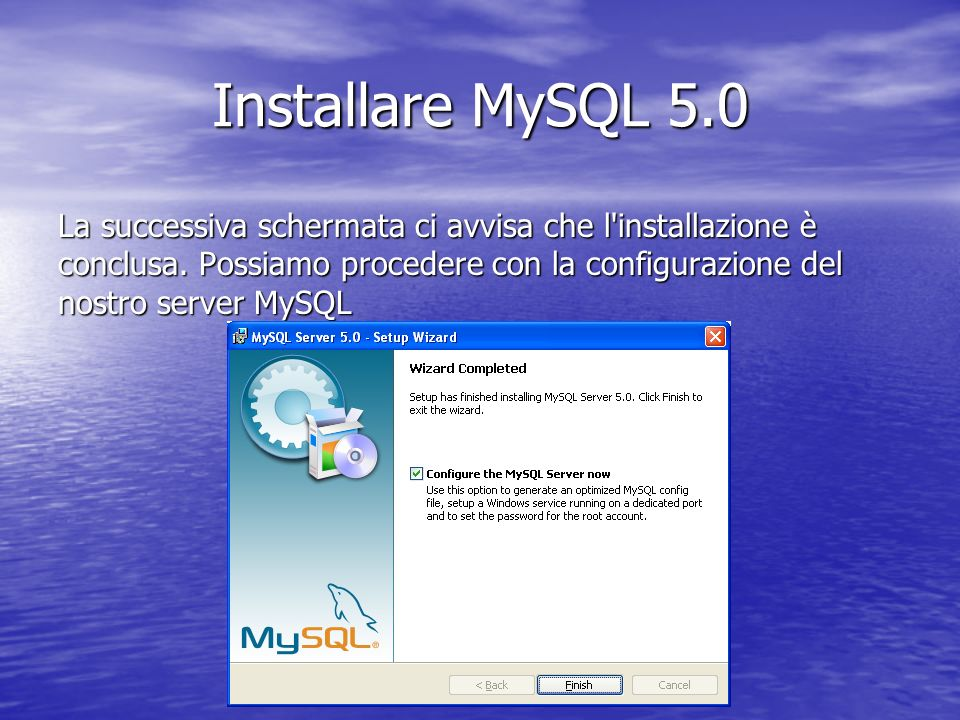 Installare MySQL 5.0