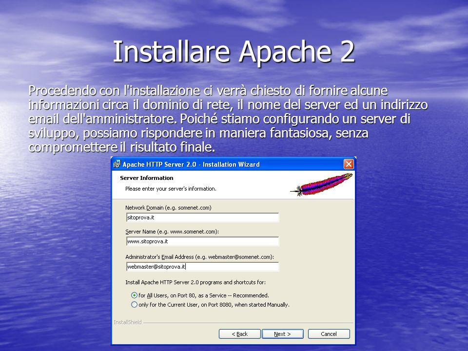 Installare Apache 2