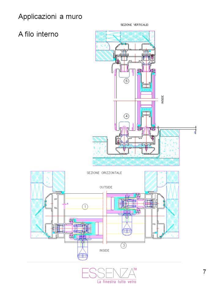 Applicazioni a muro A filo interno
