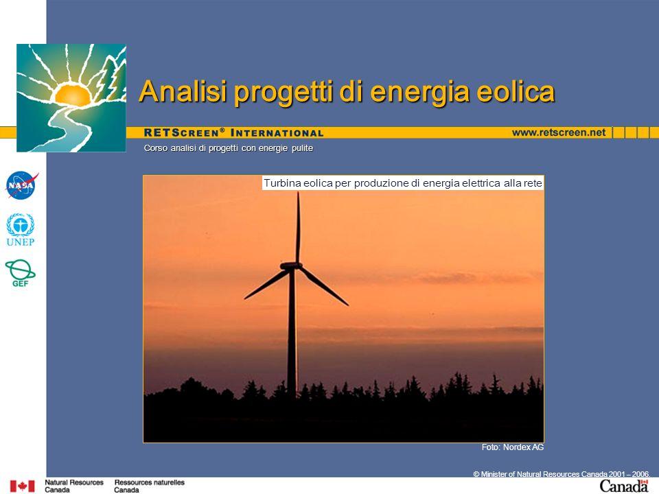 Turbina eolica per produzione di energia elettrica alla rete