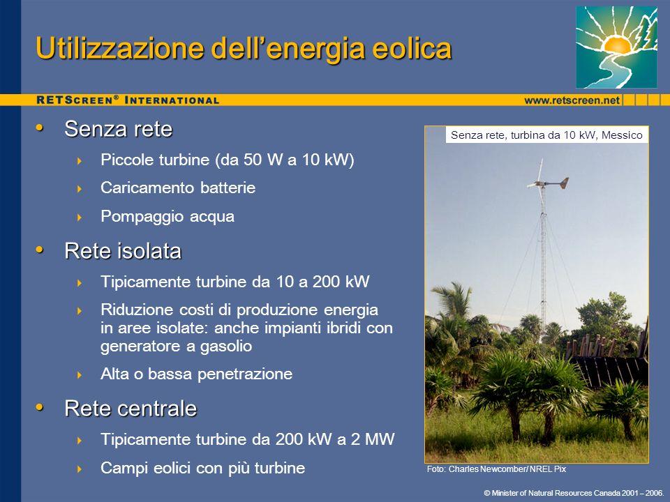 Utilizzazione dell'energia eolica