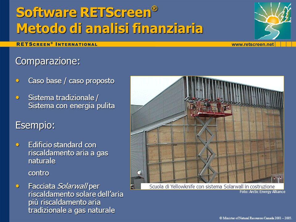 Scuola di Yellowknife con sistema Solarwall in costruzione