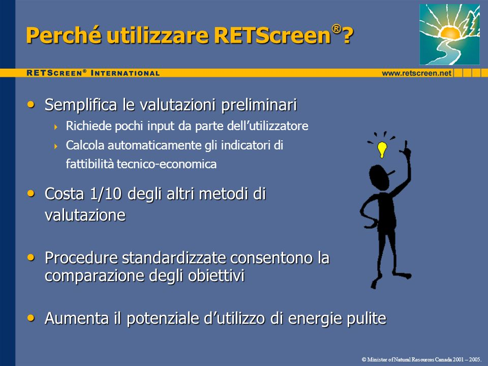 Perché utilizzare RETScreen®