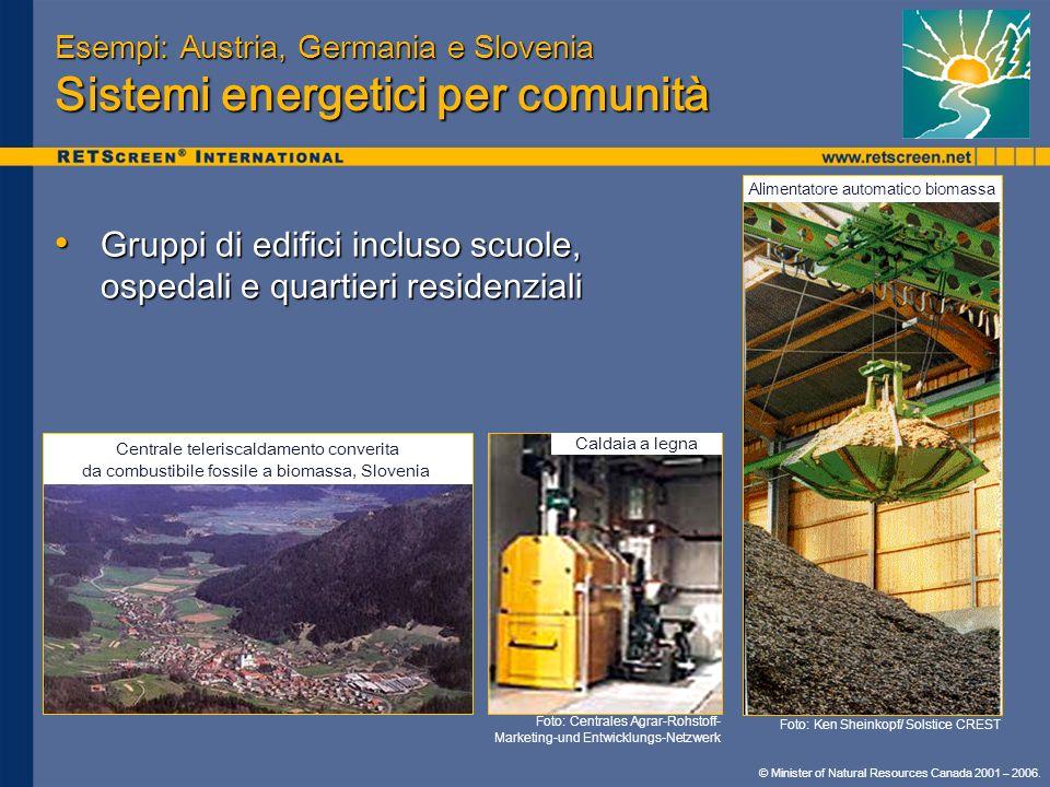 Esempi: Austria, Germania e Slovenia Sistemi energetici per comunità