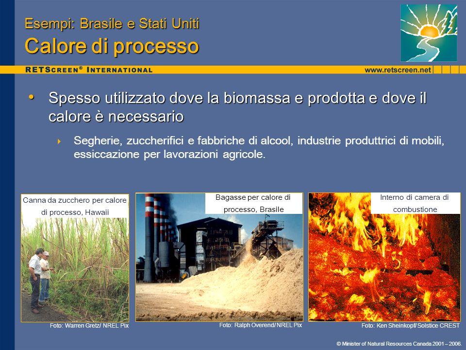 Esempi: Brasile e Stati Uniti Calore di processo
