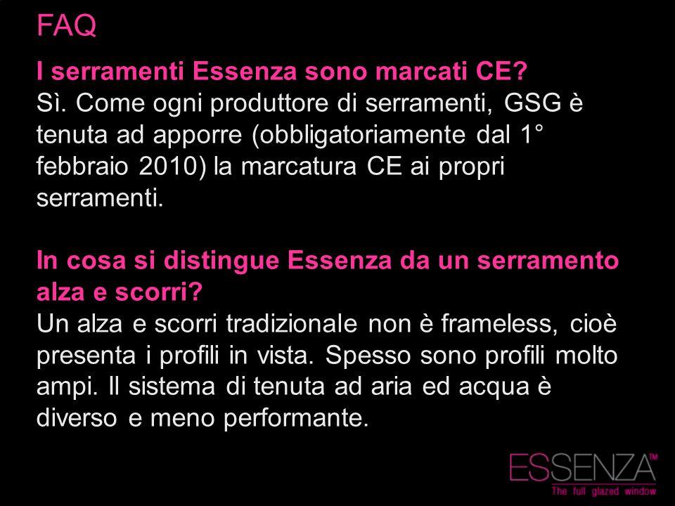 FAQ I serramenti Essenza sono marcati CE