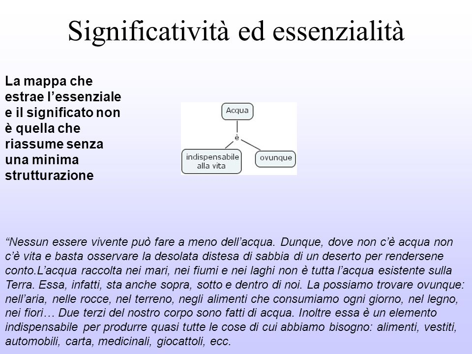 Significatività ed essenzialità