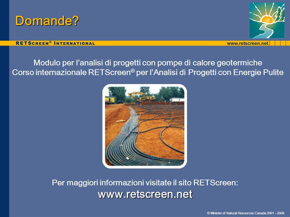 Domande www.retscreen.net