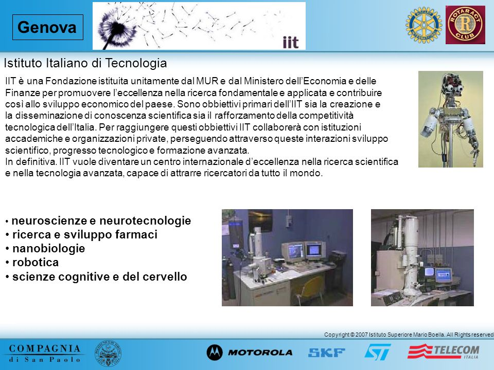 Genova Istituto Italiano di Tecnologia ricerca e sviluppo farmaci