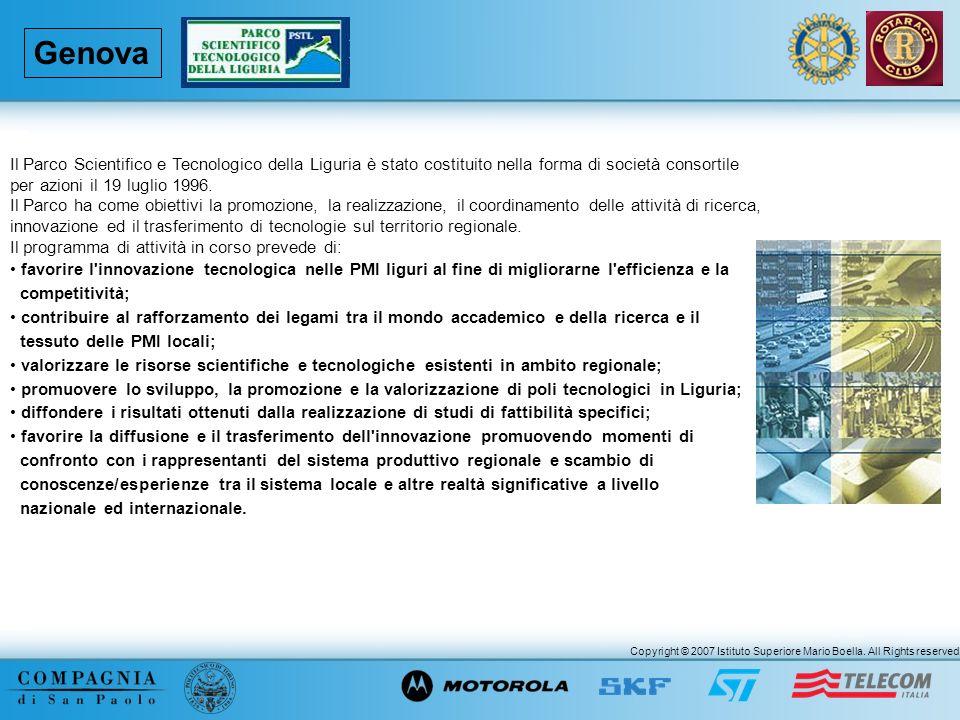 Genova Il Parco Scientifico e Tecnologico della Liguria è stato costituito nella forma di società consortile.