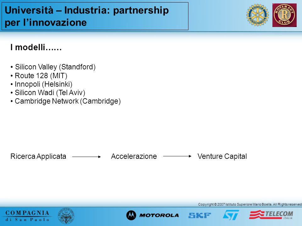 Università – Industria: partnership per l'innovazione
