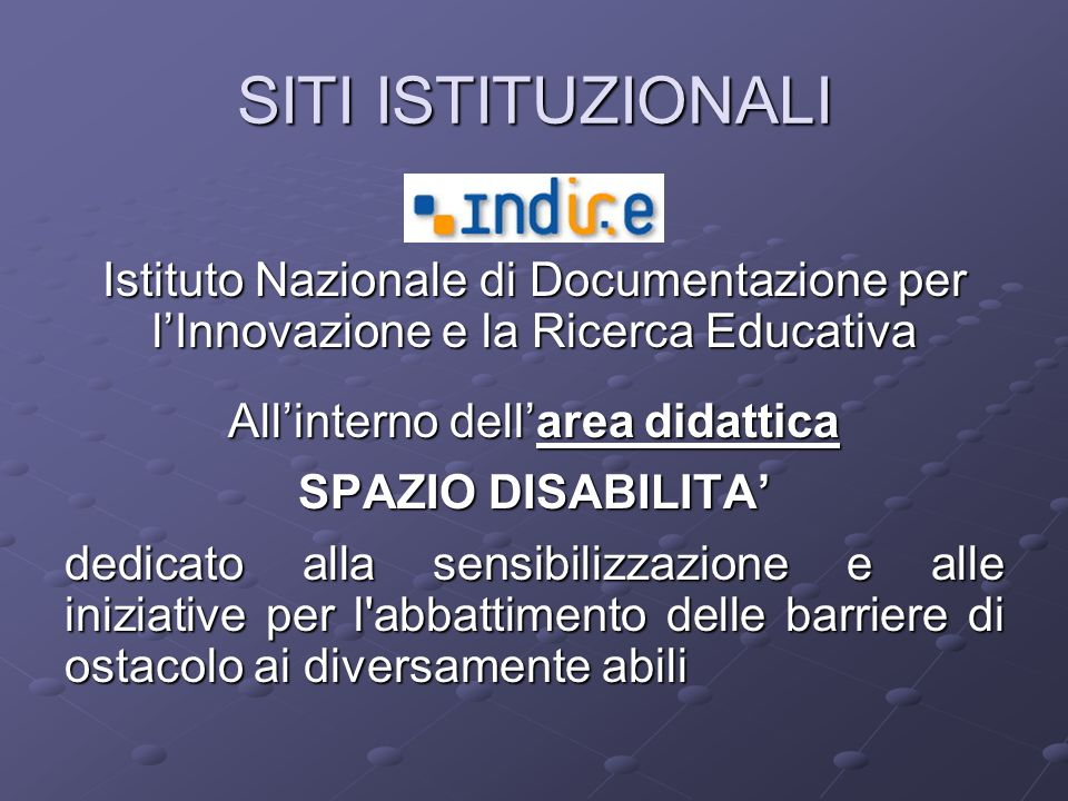 All'interno dell'area didattica