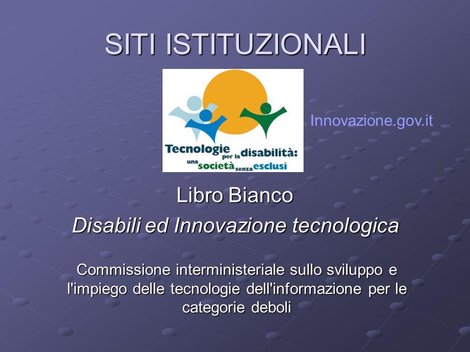 Disabili ed Innovazione tecnologica