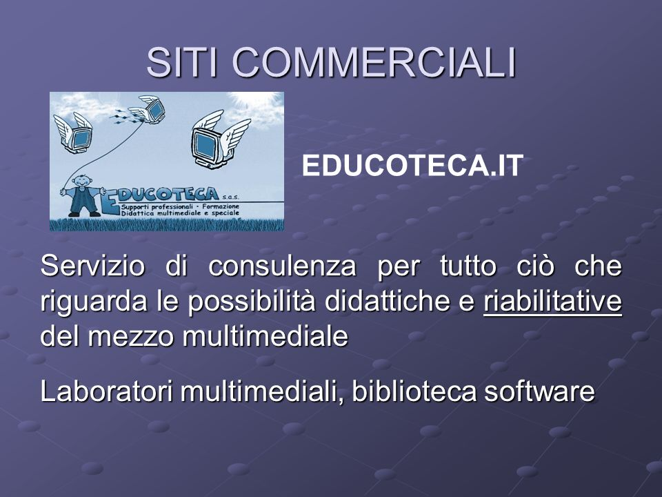 SITI COMMERCIALI EDUCOTECA.IT