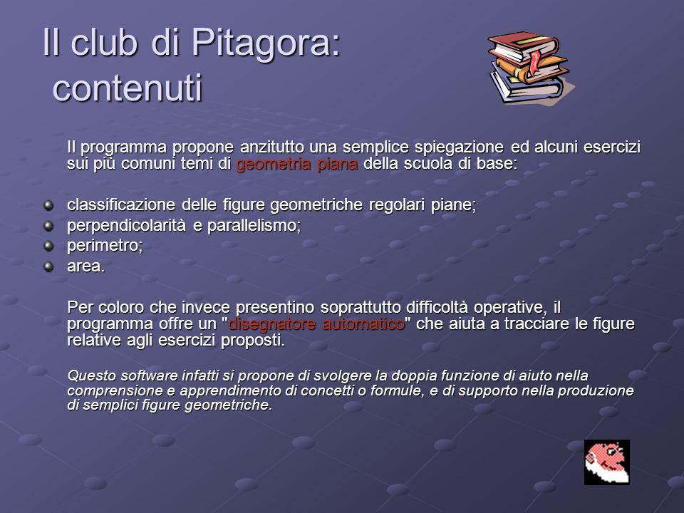 Il club di Pitagora: contenuti