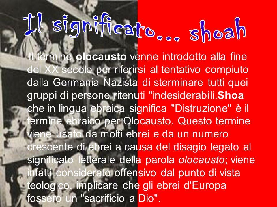 Il significato... shoah