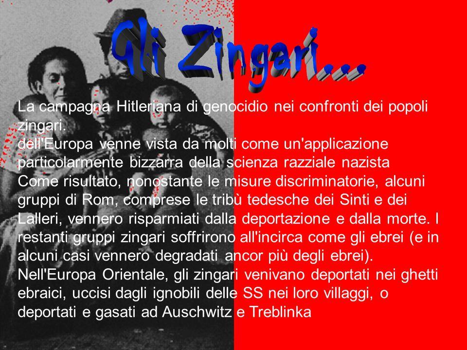 Gli Zingari... La campagna Hitleriana di genocidio nei confronti dei popoli zingari.