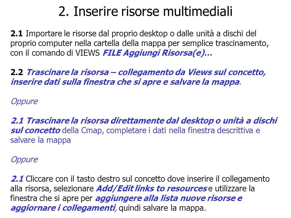 2. Inserire risorse multimediali
