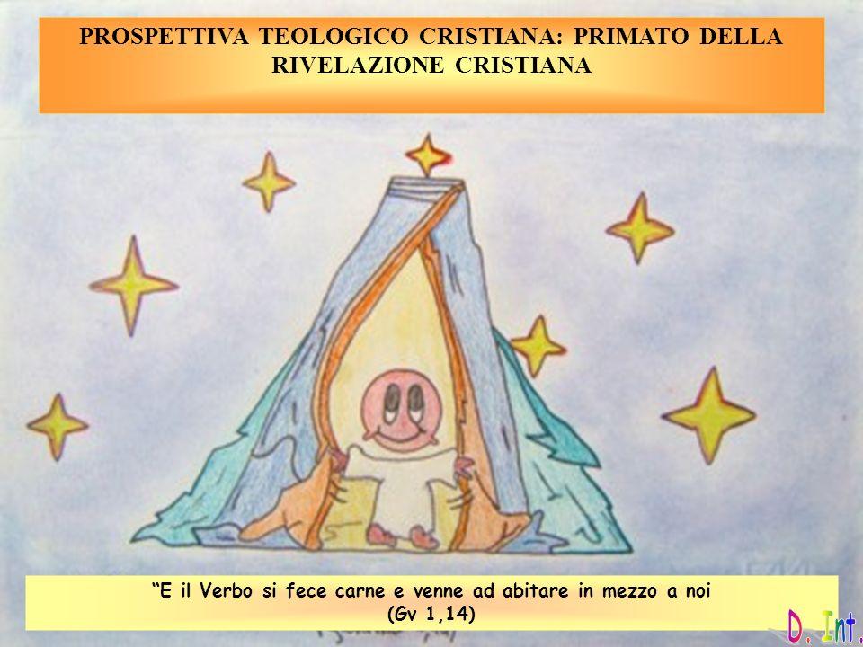 PROSPETTIVA TEOLOGICO CRISTIANA: PRIMATO DELLA RIVELAZIONE CRISTIANA
