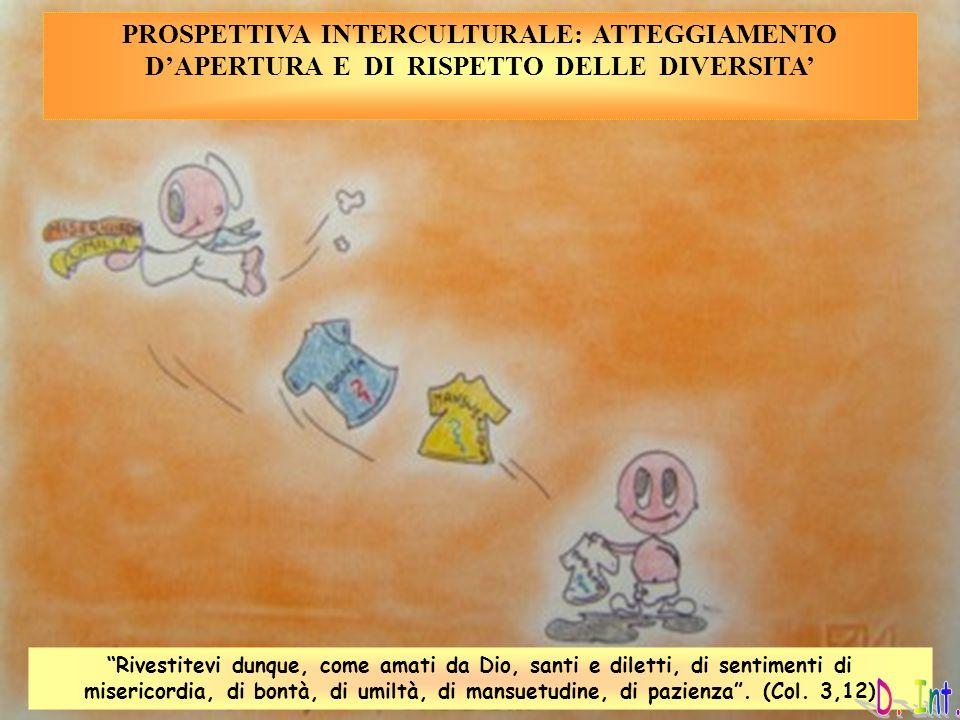 PROSPETTIVA INTERCULTURALE: ATTEGGIAMENTO D'APERTURA E DI RISPETTO DELLE DIVERSITA'