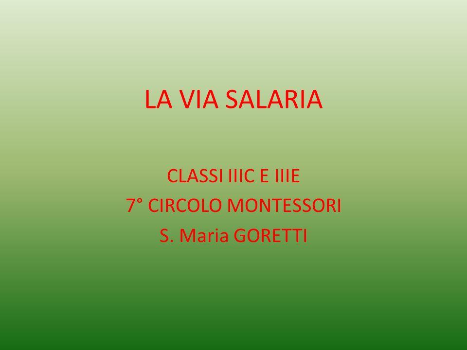CLASSI IIIC E IIIE 7° CIRCOLO MONTESSORI S. Maria GORETTI