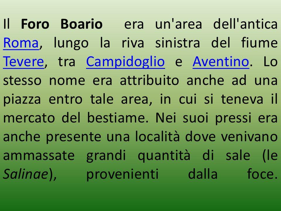 Il Foro Boario era un area dell antica Roma, lungo la riva sinistra del fiume Tevere, tra Campidoglio e Aventino.