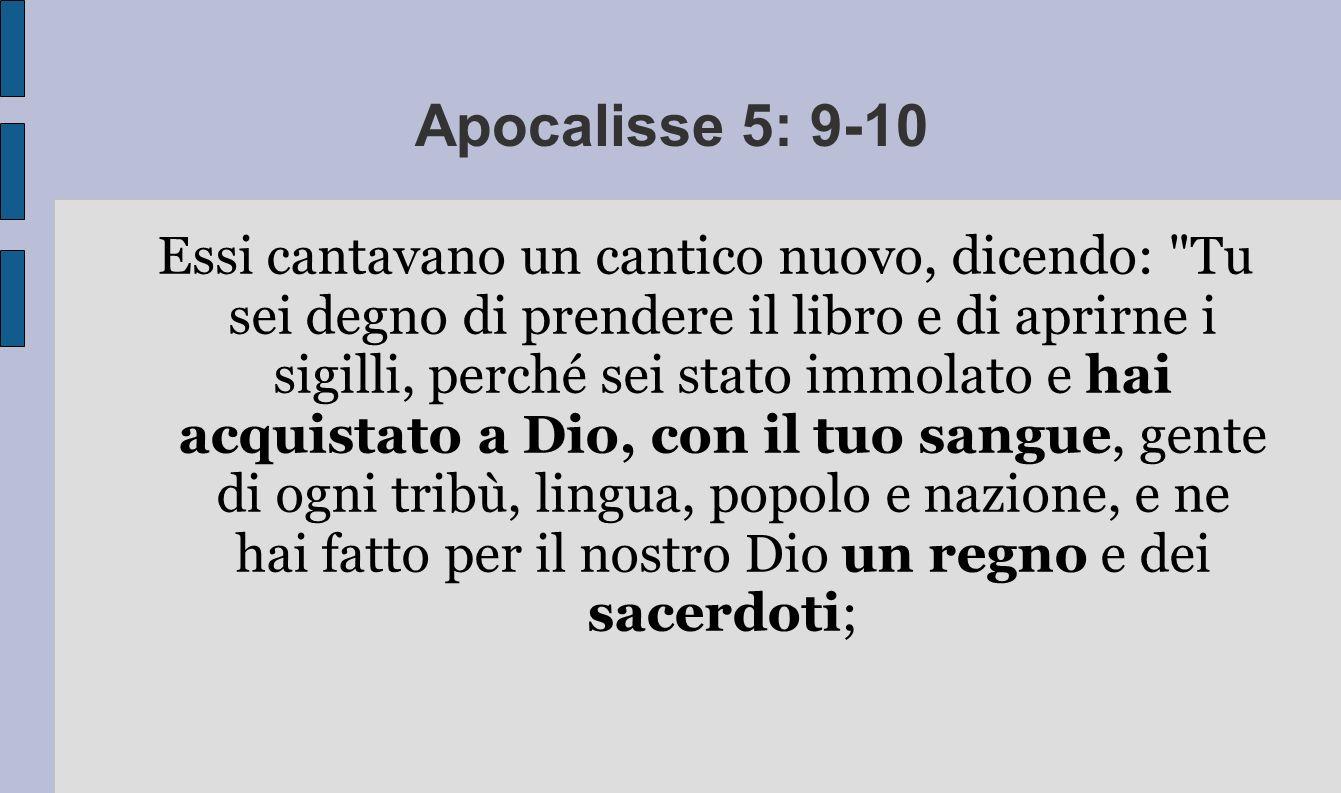 Apocalisse 5: 9-10